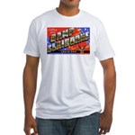 Camp Claiborne Louisiana (Front) Fitted T-Shirt