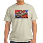Camp Claiborne Louisiana (Front) Ash Grey T-Shirt