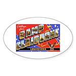 Camp Claiborne Louisiana Oval Sticker