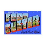 Fort Custer Michigan Mini Poster Print