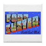 Fort Custer Michigan Tile Coaster