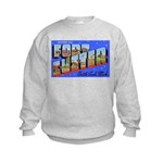 Fort Custer Michigan (Front) Kids Sweatshirt