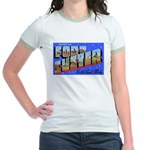 Fort Custer Michigan (Front) Jr. Ringer T-Shirt