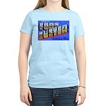 Fort Custer Michigan (Front) Women's Pink T-Shirt
