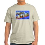 Fort Custer Michigan (Front) Ash Grey T-Shirt
