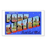 Fort Custer Michigan Rectangle Sticker