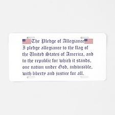 The Pledge of Allegiance Aluminum License Plate