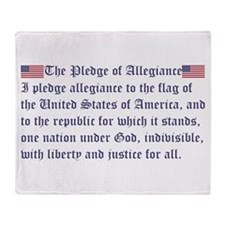 The Pledge of Allegiance Throw Blanket