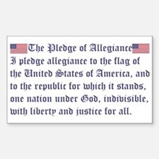 The Pledge of Allegiance Decal