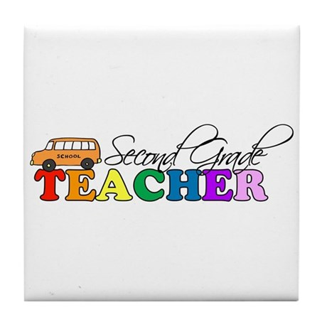 Second Grade Teacher Tile Coaster