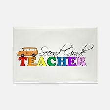 Second Grade Teacher Rectangle Magnet