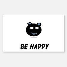 be HAPPY Sticker (Rectangle 10 pk)