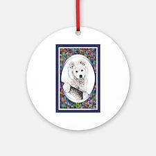 Samoyed Designer Ornament (Round)