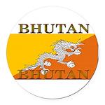 Bhutan.jpg Round Car Magnet