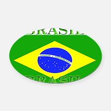Brasilblack.png Oval Car Magnet