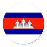Cambodiablank.jpg Round Car Magnet