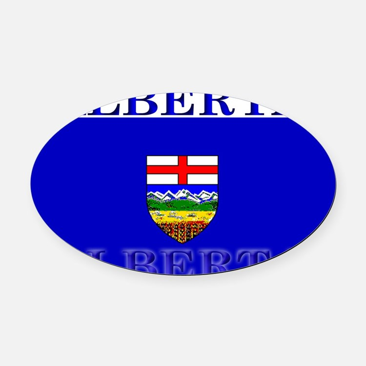 Alberta.jpg Oval Car Magnet
