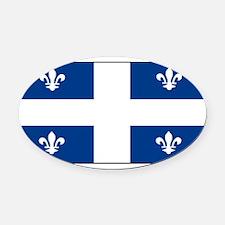 Quebecblank.jpg Oval Car Magnet