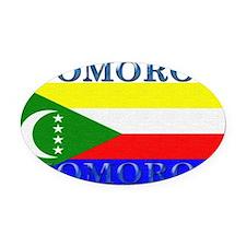 Comoros.jpg Oval Car Magnet
