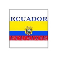 "Ecuador.jpg Square Sticker 3"" x 3"""