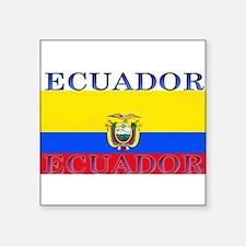 """Ecuador.jpg Square Sticker 3"""" x 3"""""""