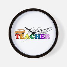 Third Grade Teacher Wall Clock