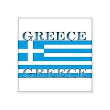 "Greeceblack.png Square Sticker 3"" x 3"""