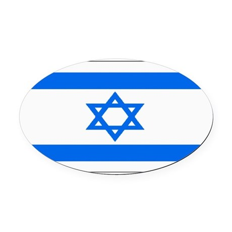 Israel black blank.png Oval Car Magnet