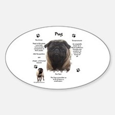 Pug 1 Oval Decal