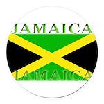 Jamaica.jpg Round Car Magnet