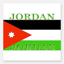 "Jordanblack.png Square Car Magnet 3"" x 3"""
