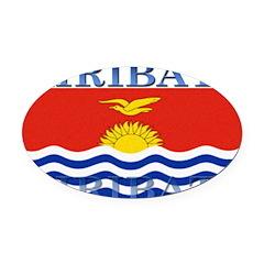 Kiribati.jpg Oval Car Magnet