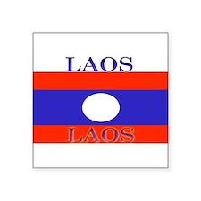 "Laos.jpg Square Sticker 3"" x 3"""