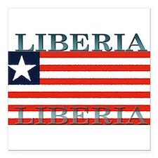 "Liberia.jpg Square Car Magnet 3"" x 3"""