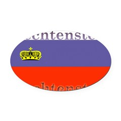 Liechtenstein.jpg Oval Car Magnet