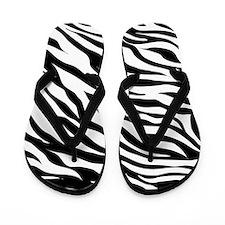 Zebra Print Design Flip Flops