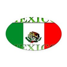 Mexicoblack.png Oval Car Magnet