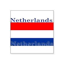 """Netherlandsblack.png Square Sticker 3"""" x 3"""""""