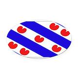 Friesland Oval Car Magnets