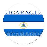 Nicaragua.jpg Round Car Magnet