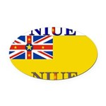 Niue.jpg Oval Car Magnet