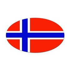 Norwayblank.jpg Oval Car Magnet
