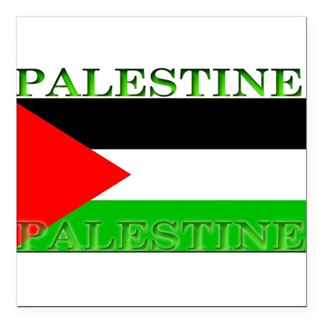 "Palestine.jpg Square Car Magnet 3"" x 3"""