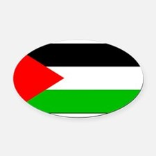 Palestineblank.jpg Oval Car Magnet