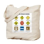 Knitting Road Signs Tote Bag