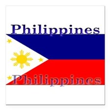 "Philippines.jpg Square Car Magnet 3"" x 3"""