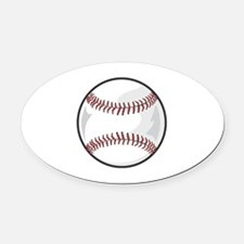 Baseball Oval Car Magnet