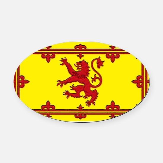 Scotlandblank.jpg Oval Car Magnet