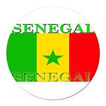 Senegal.png Round Car Magnet