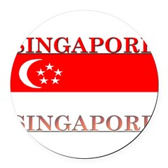 Singapore.png Round Car Magnet